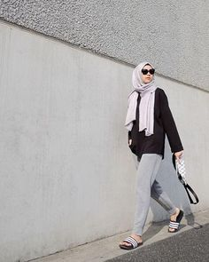 64 Ideas Fashion Style Hijab Ideas Outfit For 2019 Street Hijab Fashion, Muslim Fashion, Modest Fashion, Street Outfit, Sport Fashion, Fashion Pants, Girl Fashion, Fashion Outfits, Trendy Fashion