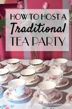 I love these traditional tea party ideas! All the food, scone recipes, clotted cream, finger sandwiches and sweets that you need to host the perfect afternoon tea. tea party menu How To Host A Traditional Tea Party - Entertaining Diva @ From House To Home Tea Party Menu, Tea Party Bridal Shower, Tea Party Foods, Tea Party Recipes, Tea Party Sandwiches Recipes, Tea Party Desserts, Tea Party Table, Food For Tea Party, High Tea Recipes