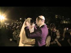 """I've been to many Jewish weddings in my day but THIS ONE in Israel is INCREDIBLE! Yossi Azulay singing to the melody of """"Time to Say Goodbye"""". It starts with the Hebrew  wedding blessing followed by the song welcoming the bride in peace  """"Boi B'shalom"""" >  """"Come in peace, crown of her husband. With happiness and rejoicing. In the midst of the faithful of a chosen nation. Come oh bride, come oh bride, come."""" BEAUTIFUL."""