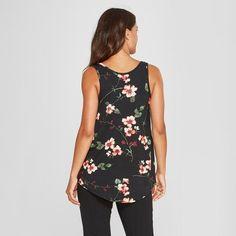 8a679272c5894 Women's Floral Print Nursing Tank Top - Gilligan & O'Malley™ Black