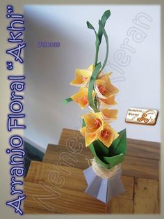 Paper Flowers, Art Work, Flower Arrangements, Fabric, Leaves, Artwork, Tejido, Work Of Art, Floral Arrangements