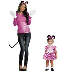 Disney Mickey Mouse and Friends Minnie Mouse Mommy and Me Costumes from… Mickey And Minnie Costumes, Mickey Mouse Halloween, Minnie Mouse Costume, Disney Halloween Costumes, Halloween Boo, Couple Halloween, Halloween 2017, Halloween Ideas, Family Costumes