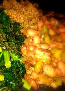 Meatlessly Mouthwatering!: Red Beans Over Quinoa with Kale - From the Engine 2 Diet