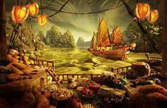 landscape with food http://i.telegraph.co.uk/multimedia/archive/01671/Chinese-Junk-5_1671576i.jpg