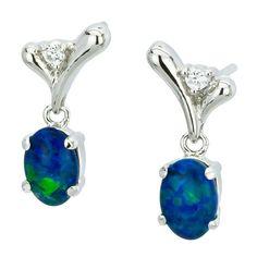 AUSTRALIA OPAL - Opal Earrings (E5000SB), $114.00 (http://www.australiaopal.com.au/opal-earrings-e5000sb/)