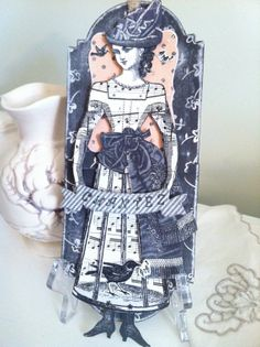 Articulated Paper Doll Tag Paris by ParisPluie on Etsy, $15.00