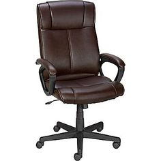 Staples Turcotte Luxura High Back Executive Chair Brown * Click on the image for additional details.(It is Amazon affiliate link) #HomeOfficeFitting