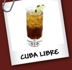 Ingredientes: • 50 cc Ron • Bebida Cola • Rodaja de Limón  Preparacion: Poner en un vaso largo con hielo la rodaja de limón y el ron. Completar con la bebida Cola.