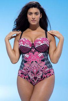 Love!  Plus Size Underwire Swimsuit - Plus Size Swimwear