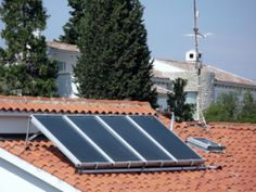 Photo about Solar energy cell on the house roof. Image of street, house, energy - 2983188 Solar Energy Panels, Best Solar Panels, Renewable Energy Jobs, Home Heating Systems, Solar Water Heater, Solar Projects, Solar Panel Installation, Solar Energy System, House Roof