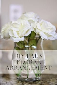 Diy faux floral arrangement with fake water pinterest floral diy faux floral arrangement with fake water pinterest floral arrangement water and floral mightylinksfo