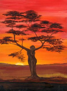 The Matriach tree    The third in the series - this time showing the Crone stage of the Mother    ~ Chas Alexander