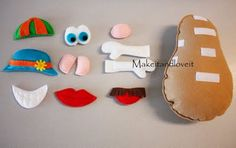 Felt DIY Mr. Potato Head. Easy, fun, & cute.