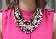 DIY multi chain necklace - loving stacked necks at the moment!