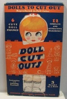 Vintage Doll Cut Outs American Colortype Co 1927 big set (10/23/2013)