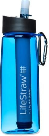 LifeStraw Go Filter Bottle - 22 fl.oz. LifeStraw is a company that has been distributing their signature straw housed water filters over years to provide safe clean drinking water.