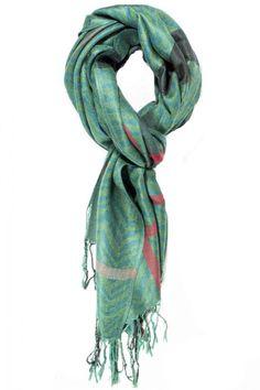 Kris Fringe Neck Scarf  #scarvesdotnet