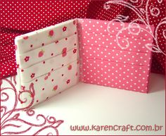Origami em tecido 11 - Fabric origami 11 | Karencraft wallet origami ideas