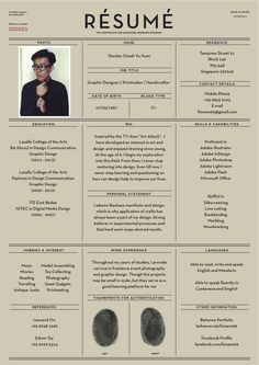 Fantastic Examples of Creative Resume Designs Cv - curriculum vitae - graphic design Design Web, Layout Design, Design Trends, Print Design, Urban Design, Cv Inspiration, Graphic Design Inspiration, Beau Cv, Cv Curriculum Vitae