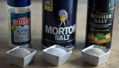 Learn what the difference is between kosher, sea & table salt. I'll let you in on a secret ingredient that professional chefs use all the time. No, not just any salt. They know which salt to use to bring out the best in whatever dish they are creat Kosher Recipes, Whole Food Recipes, Side Recipes, Cooking Tips, Cooking Recipes, Food Tips, Diabetic Recipes, Healthy Recipes, Table Salt
