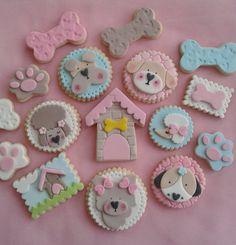 Cookies Fondant, Cupcakes, Pasta Ballina, Tapas, Rainbow Sugar Cookies, Cumple Paw Patrol, Show Da Luna, Puppy Treats, Puppy Party
