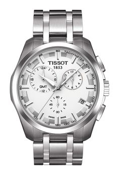 Tissot COUTURIER GMT STAHL/STAHLB T0354391103100 Herrenchronograph