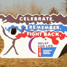 A cool, interactive way to display the 2012 Relay For Life T-shirt design. Stick your head in and snap a pic!