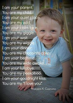 Lets share : What you are for your little one & he/she is for you...!!!