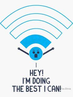"""""""Angry Wifi"""" Sticker by theodorezirinis"""
