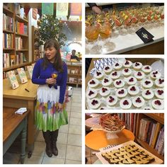 Some snaps from my book launch event at Books for Cooks in London - canapés made from recipes in the book, including rye quick bread with delicious cheeses and mini versions of the Pistachio and Pomegranate cake. Cocktails provided by the lovely Kamm & Sonns.