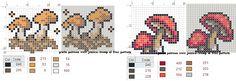 mushroom cross stitch chart