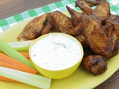 Smoked Wings of Paradise Recipe : Jeff Mauro : Food Network - FoodNetwork.com / Use cherry wood as stated on FN 8-30-14. Serve w/ranch dip.