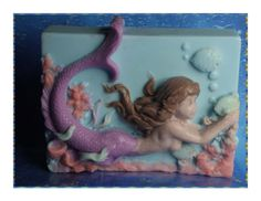 Beautiful Mermaid Wendy with Fish with brown hair by SeaBeautySoap