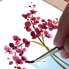 Flower Drawing Discover process video of Watercolor flowers Watercolor Paintings For Beginners, Watercolor Video, Watercolor Cards, Watercolor Illustration, Floral Watercolor, Watercolor Plants, Art Floral, Watercolor Flowers Tutorial, Flower Art