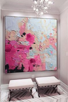Large pink gold blue art abstract painting fuchsia blue fuchsia abstract painting abstract landscape painting art – Merys Stores – Famous Last Words Abstract Landscape Painting, Abstract Art Painting, Contemporary Abstract Art, Art Painting, Abstract Painting, Painting, Blue Art, Art Painting Acrylic, Canvas Painting