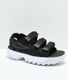 70bede35b426 New FILA Disruptor Black Platform Sandal Women s Sz 8  fashion  clothing   shoes