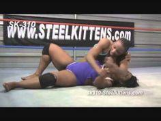 Female Wrestling, Hot Womens Wrestling.  African American Women Wrestling   Competitive Wrestling. Female Wrestlers Afrika vs. Raquel D. See lots of Great Women's Wrestling Videos at http://www.SteelKittens.com