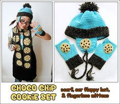 Choco Chip Set - scarf, hat, mittens by TWiNKiE CHAN, via Flickr