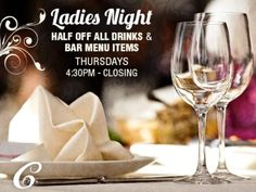 Thursdays are Ladies Nights!