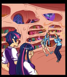 """its from a MLP fanfic called """"On A Cross And Arrow"""" its a pretty awesome mlp fanfic but anyway took me 3 days because of the freaking backgrounds - sorr. My Little Pony Cartoon, My Little Pony Comic, My Little Pony Pictures, Gravity Falls, Mlp Pony, Pony Pony, Disney University, Plant Zombie, Dc Anime"""
