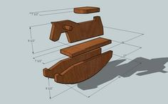 simple wooden rocking horse