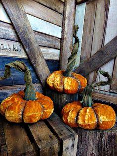 Primitive Velvet Pumpkins Velvet Pumpkins  Fall by harrietstash