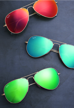 Ray-Ban Aviators in colour