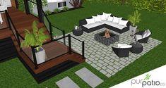 Pergola Kit Home Depot Pergola Patio, Backyard Patio, Pergola Kits, Covered Deck Designs, Fire Pit Landscaping, Hot Tub Deck, Patio Plans, Decks And Porches, Concrete Patio