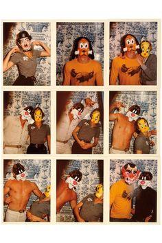 Manuela Papatakis, Gilles Millinaire, Jessica Lange, Jean-Eludes Canival, London, 1975. #refinery29 http://www.refinery29.com/antonio-lopez-instamatics-vintage-fashion-photos#slide-12