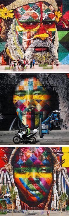 Street art // colorful murals // murals // geometric street art