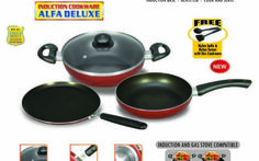 Padmini Cookplus Induction and Gas stove Cookware Set At Rs.1299
