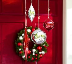 Cristmas Door With Pendant Lamp Wall Lamp Jar Candle Holder And ...