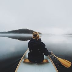 Canoeing in the mist. #kayaking #nature