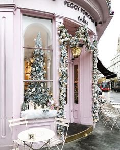 From Instagram: 29 Images of Magical Holiday Inspiration for December 2017 - from garlanded coffee shops in Paris to hanging boughs and decorated trees ...